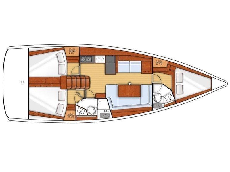 Oceanis 38.1 (PRES- 38O-21-I) Plan image - 2
