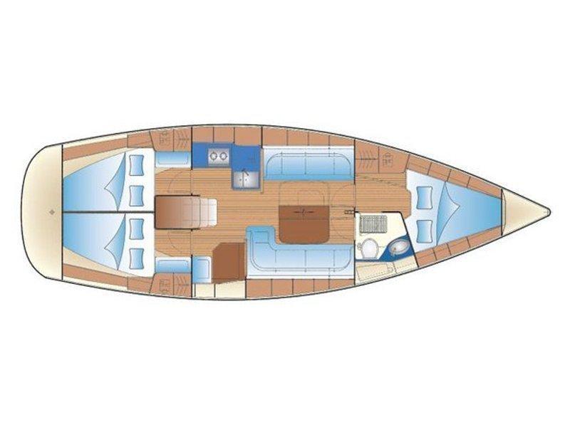 Bavaria 38 Cruiser (Andromeda) Plan image - 2