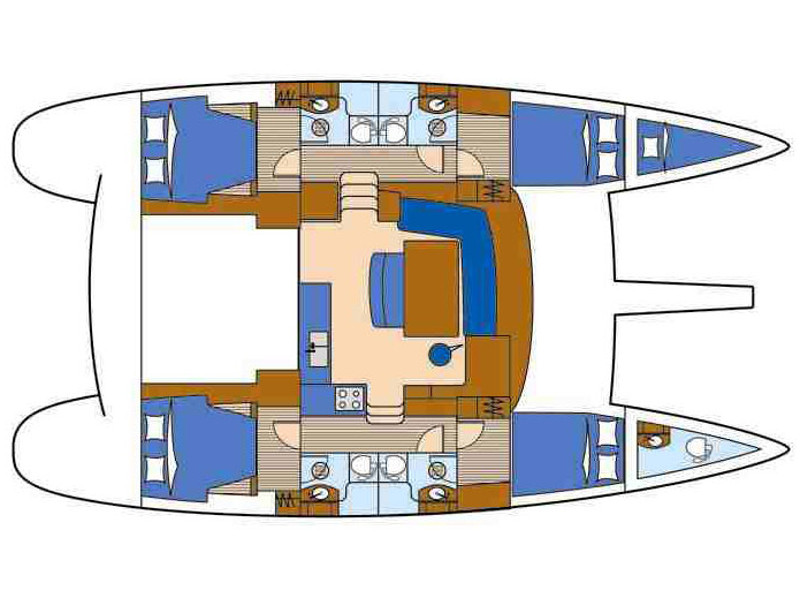 Lagoon 440/6 cab (EC- L44-09-G) Plan image - 1
