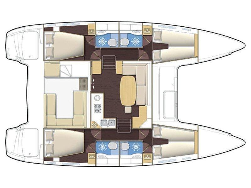 Lagoon 400 (CL- L40-17-G) Plan image - 2