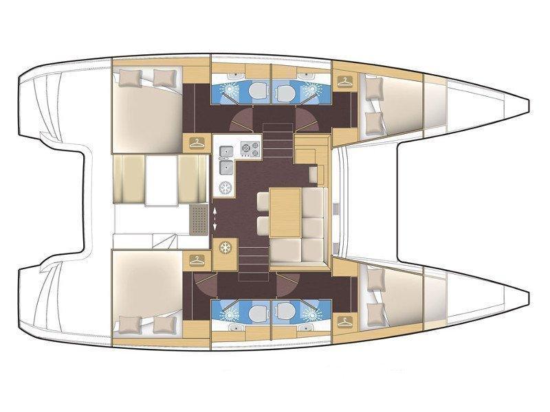 Lagoon 39 / 4 H (PRES- 39L-16-G n) Plan image - 1