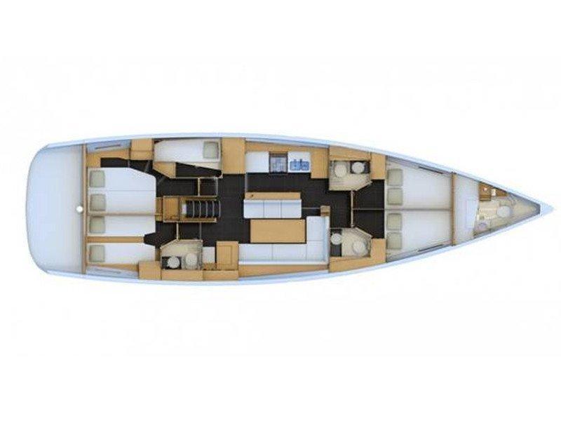 Jeanneau 54 (CL- J54-16-G) Plan image - 2