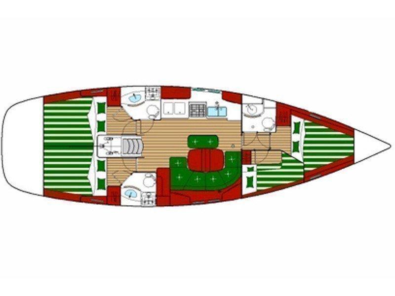 Oceanis 423 (Pegaso) Plan image - 1