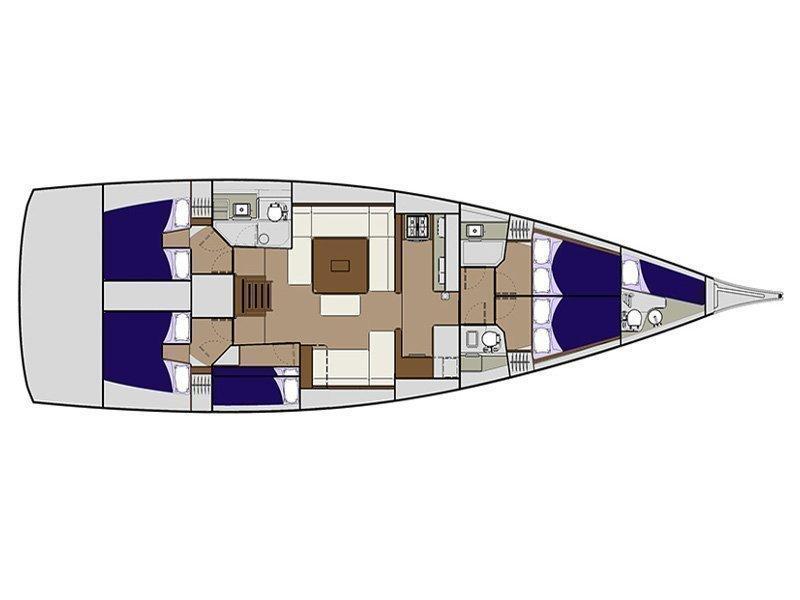 Dufour 560 (EC- 560-15-CR) Plan image - 1