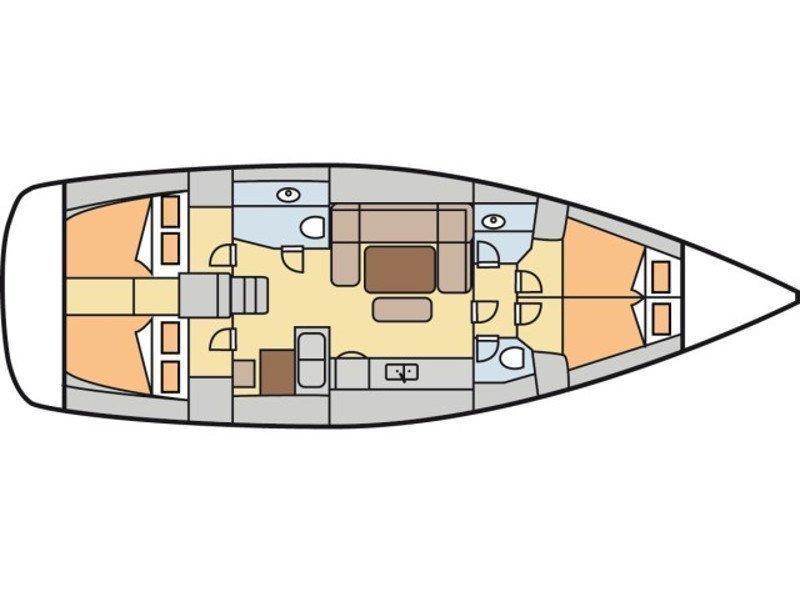 Dufour 450/ 2WC (EC- 450-15-CR) Plan image - 2