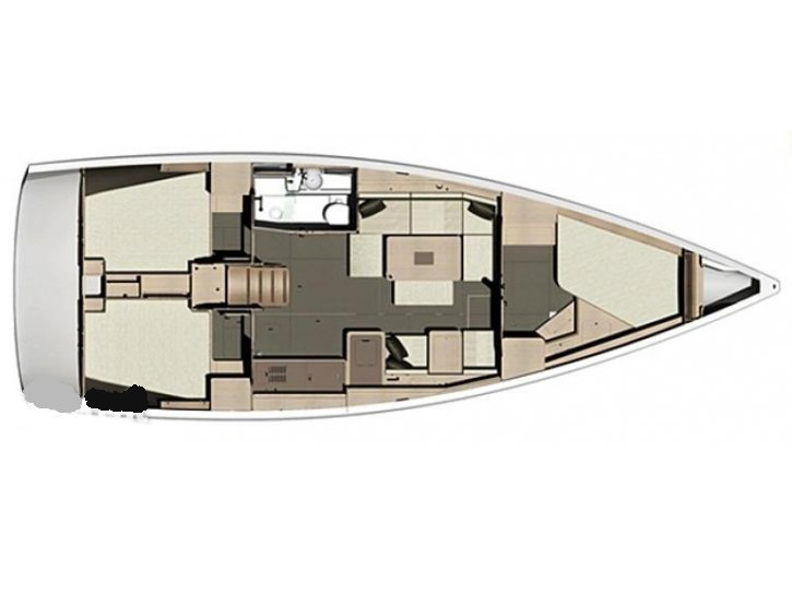 Dufour 410 Grand Large (EC- 411-14-MA) Plan image - 2
