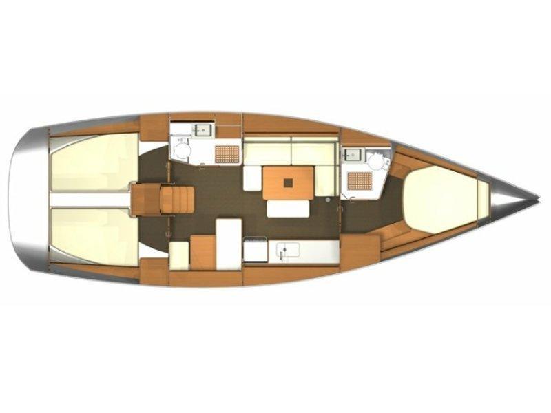 Dufour 405 (EC-  405-13-F) Plan image - 1