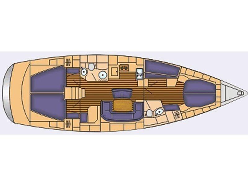 Bavaria 46 Cruiser (Malice) Plan image - 2