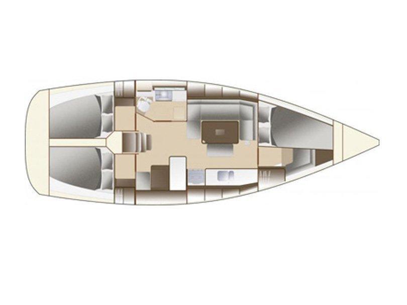 Dufour 380 (EC- 380-14-F) Plan image - 1