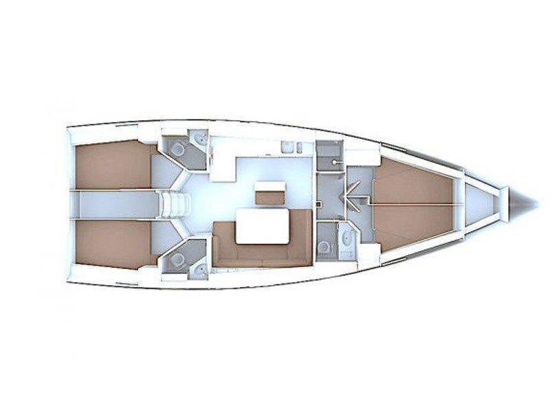 Bavaria Cruiser 46 (Eurydika) Plan image - 3