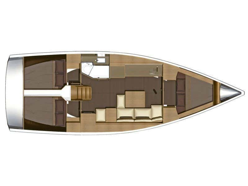 Dufour 382 Grand Large (Scirocco) Plan image - 2