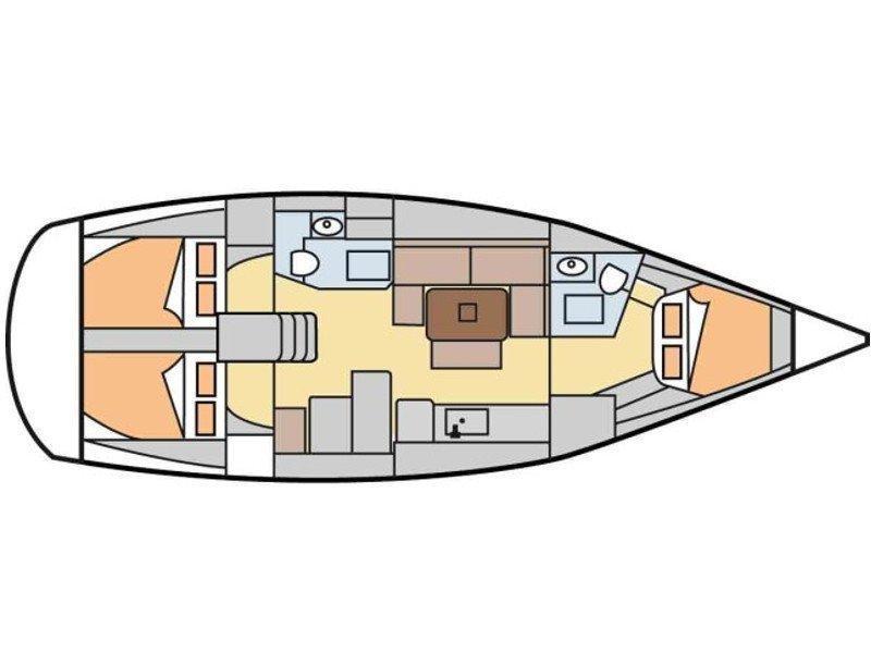 Dufour 405 GL (Legolas) Plan image - 1
