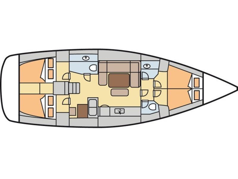 Dufour 450 Grand Large (Comodo) Plan image - 15