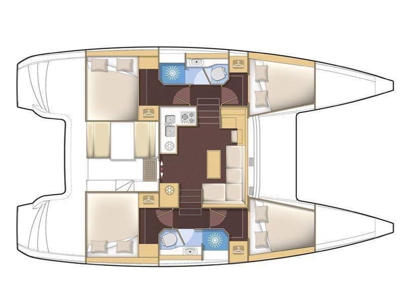 Lagoon 39 (Le Grand Bleu) Plan image - 5