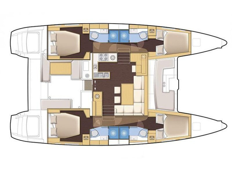Lagoon 450 Flybridge (AQUA) Plan image - 2