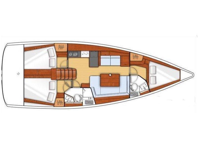 Oceanis 41 (Sea Lion) Plan image - 2