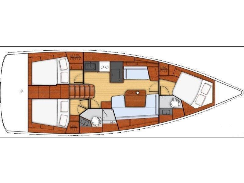 Oceanis 41.1 (White Beauty) Plan image - 16