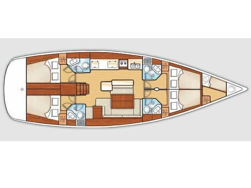 "Oceanis 58 Exclusive (""Pegaso""- refit 2021) Plan image - 2"