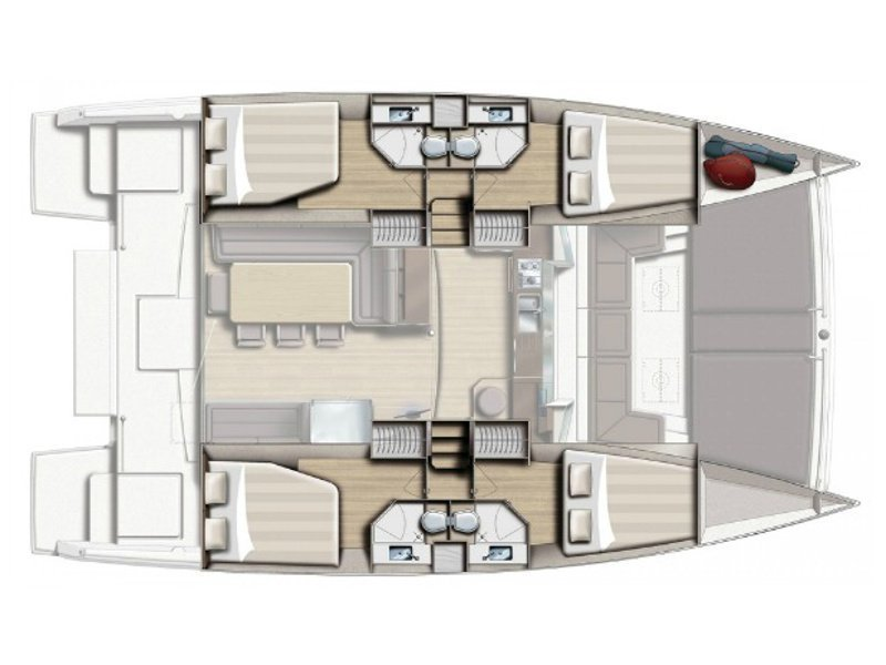 Bali 4.3 (Eleni / with air-condition, generator & watermaker) Plan image - 2