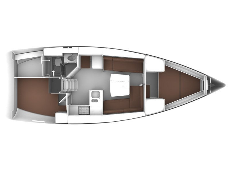 Bavaria Cruiser 37 (ALENA) Plan image - 1