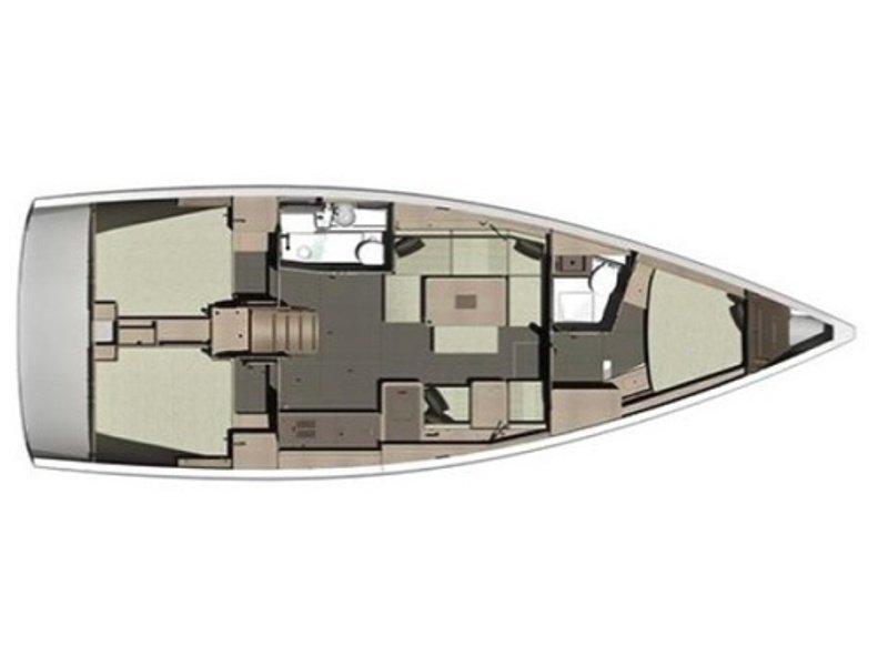 Dufour 412 Grand Large (Jasiequ (blue hull)) Plan image - 9