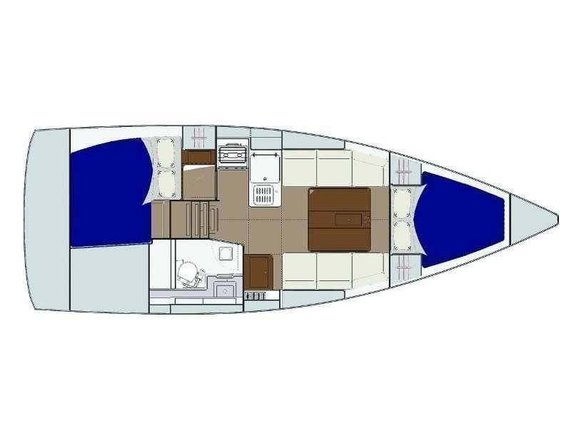 Dufour 310 Grand Large (Inezic) Plan image - 4