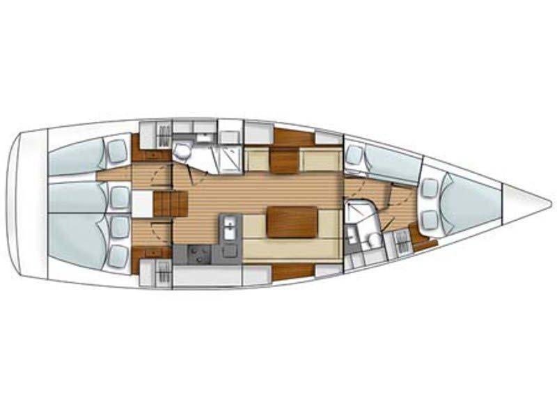 Hanse 430 (Paki Nafi (sails 2021)) Plan image - 2