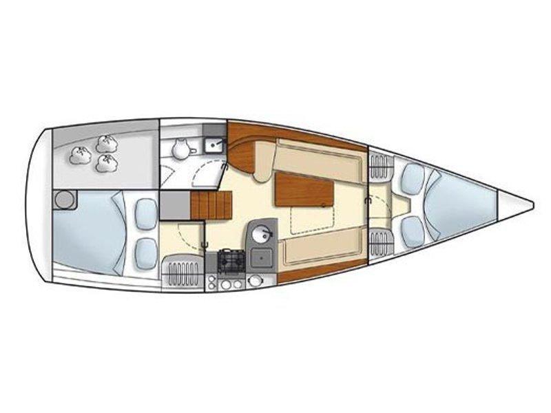 Hanse 325 (H325-12G-S) Plan image - 2