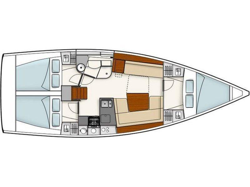 Hanse 385 (H385-16G) Plan image - 1
