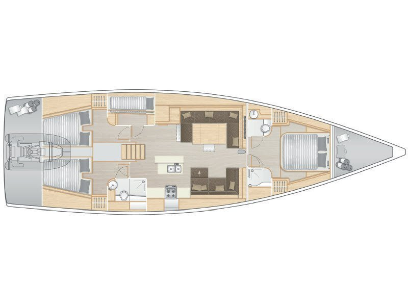 Hanse 588 - 3 cabins (FAR NIENTE) Plan image - 5