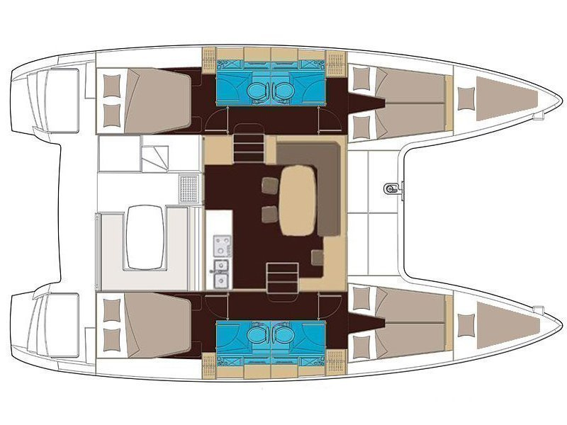 Lagoon 400 S2 (Martina One) Plan image - 5