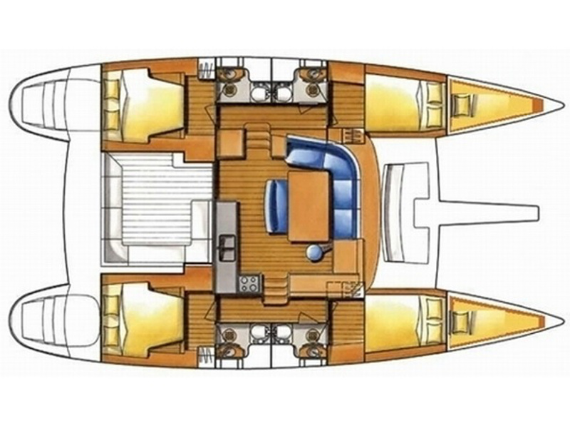 Lagoon 400 (Esmeralda) Plan image - 6