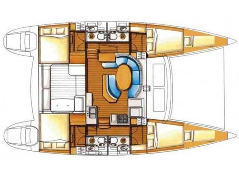 Lagoon 410 S2 (Sant Amanza) Plan image - 12