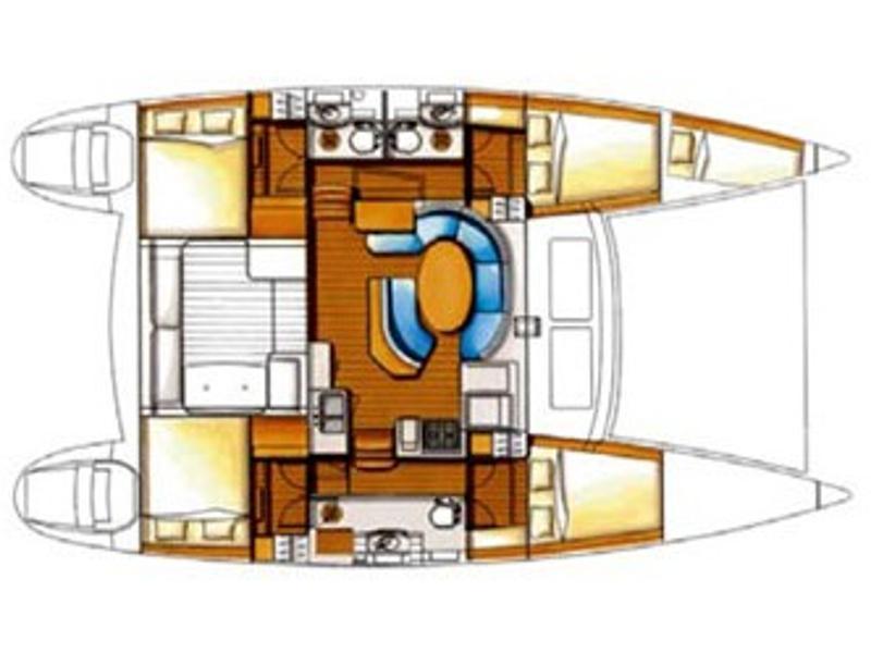 Lagoon 410 (Whisper) Plan image - 2