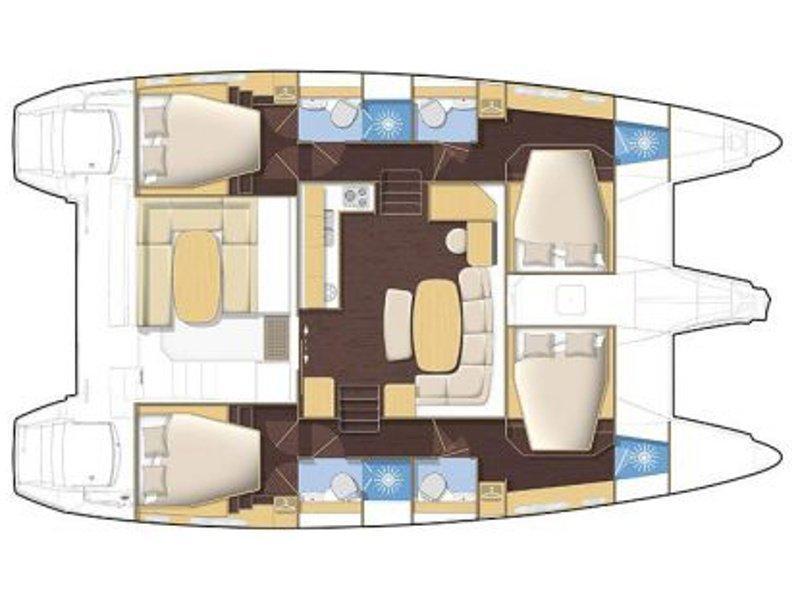 Lagoon 420 (Dynamis) Plan image - 9