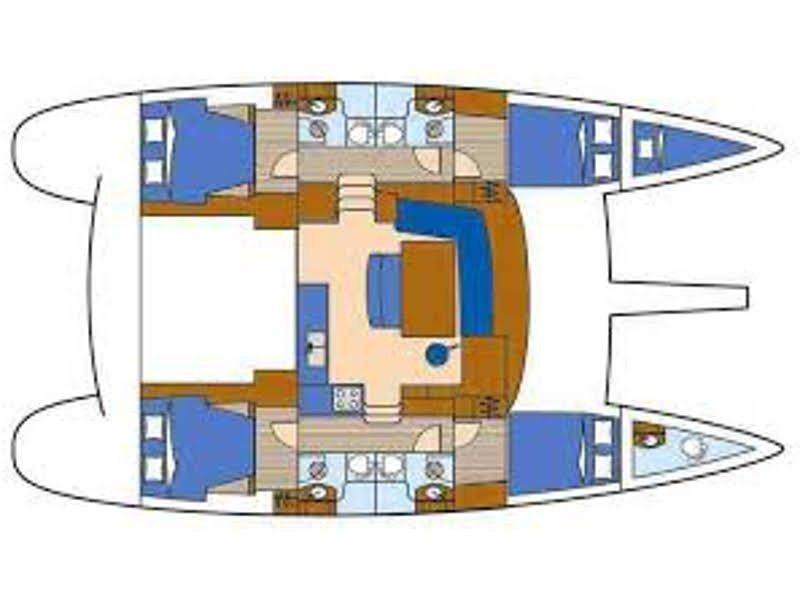Lagoon 440 (4+2 cab.) (Futuna T) Plan image - 15