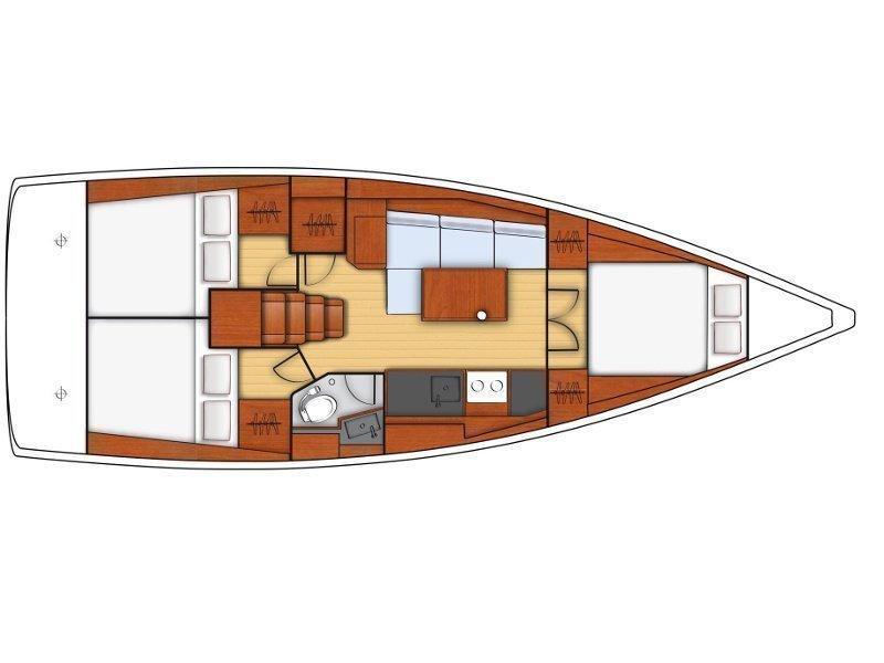 Oceanis 38.1 (Aga) Plan image - 2