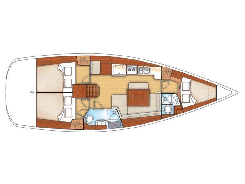 Oceanis 40 (Senza Parole II) Plan image - 6
