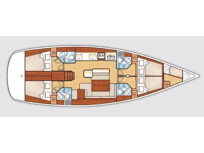Oceanis 50 (Calypso) Plan image - 6
