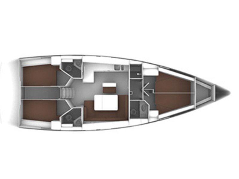 Bavaria Cruiser 46 (Sot) Plan image - 4