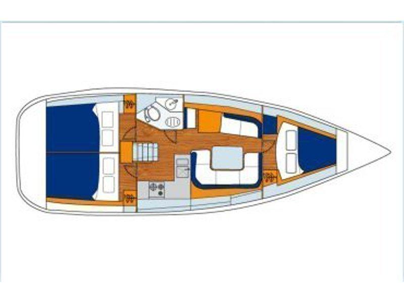 Sun Odyssey 36i (Noodler) Plan image - 5