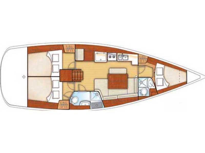Beneteau Oceanis 40 (Tosca) Plan image - 13