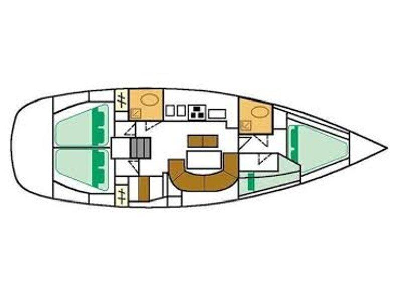 Oceanis 411 (Mica) Plan image - 1