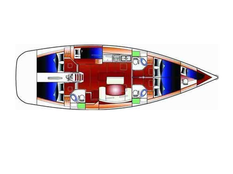 Cyclades 50.5 (Josefina) Plan image - 5