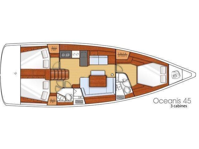 Oceanis 45 3 cabins (Marc) Plan image - 6