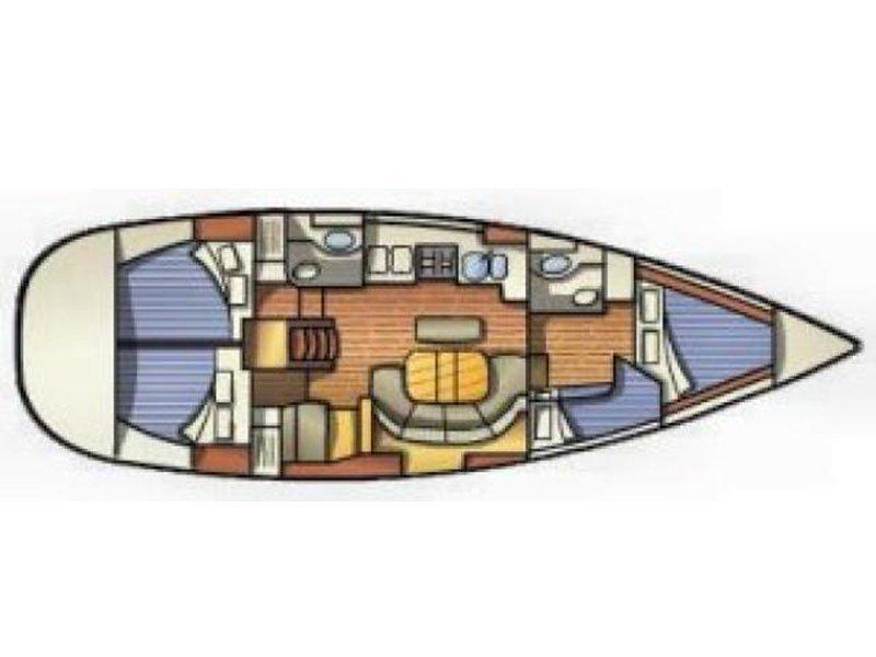 Oceanis 411-4* (Francesca) Plan image - 3