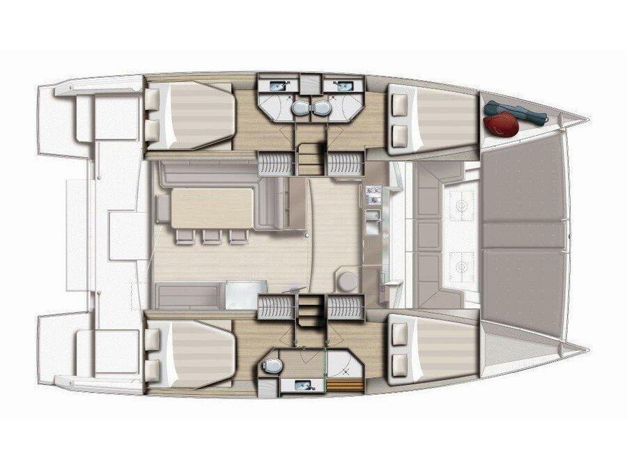 Bali 4.3 - 4 double cabins (Carpe Ventum) Plan image - 5