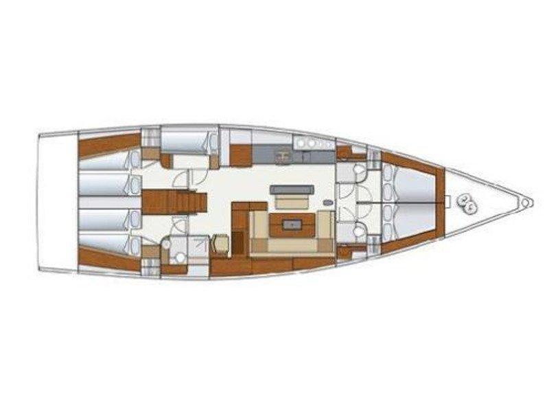 Hanse 575 (Maggie) Plan image - 1