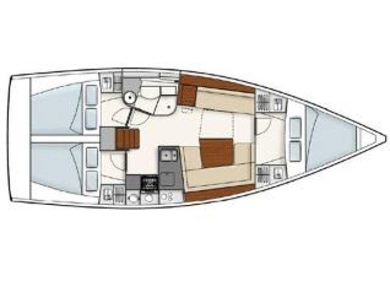 Hanse 385 (Riana) Plan image - 2