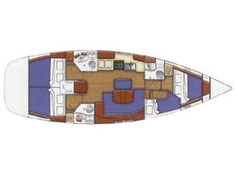 Oceanis 423 (Margarita S) Plan image - 15
